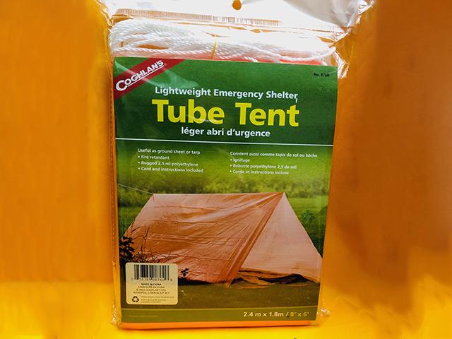 Coghlan/'s tube Tente d/'urgence léger polyéthylène camping abri 4-Pack